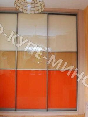 Встроенный шкаф оранжевый лакобель